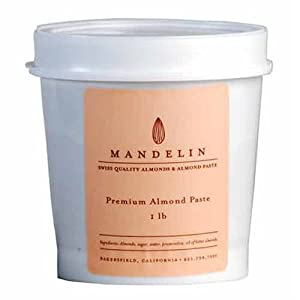 Premium Almond Paste - 66% Almonds (1LB Tub)
