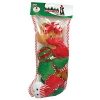 688616 Holiday Dog Toy Stocking, 8 Piece/x Large Home