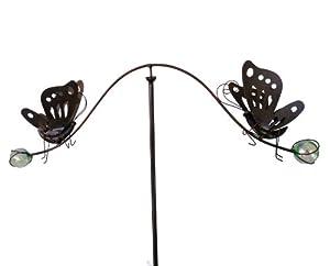 east2eden Spinning Balancing Butterfly Metal Garden Wind