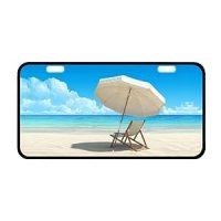 Amazon.com : Beach Chair Metal Car License Plate : Sports ...