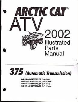 2002 Arctic Cat ATV 375 AUTOMATIC TRANSMISSION Parts Manual P/N 2256-595 (900): Arctic Cat