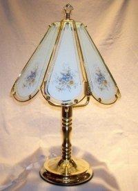 Blue Flowers Touch Lamp - Table Lamps - Amazon.com