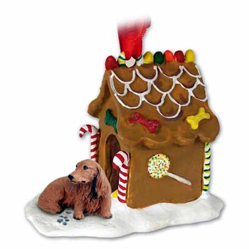 Longhaired Dachshund Gingerbread House