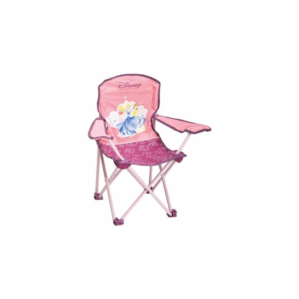 kids folding camp chair black leather and a half with ottoman exxel outdoors disney princess on popscreen