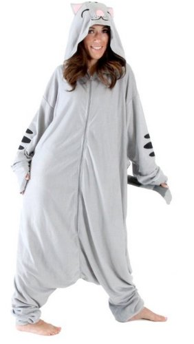 Big Bang Theory Soft Kitty Onesie Pajama with Hood (Large)