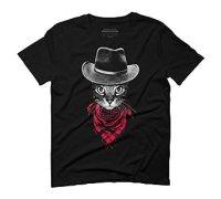 Cowboy Cat Men's Graphic T-Shirt - Design By Humans ...
