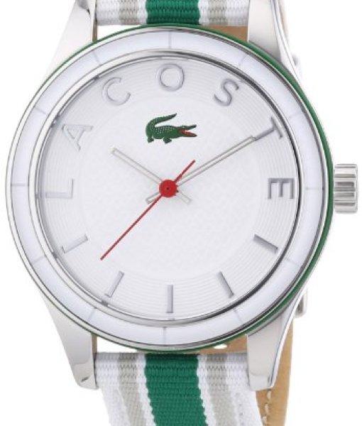 Lacoste 2000769 – Reloj analógico de cuarzo para mujer, correa de tela multicolor