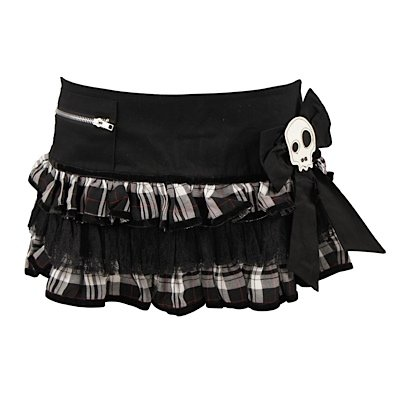 Hell Bunny Minirock BAD GIRL MINI black/white