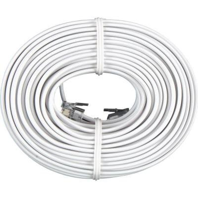 Permo 50 Feet White Telephone Extension Cord Cable Line