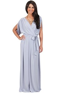 KOH-KOH-Womens-Batwing-Dolman-Sleeve-Maxi-Dress