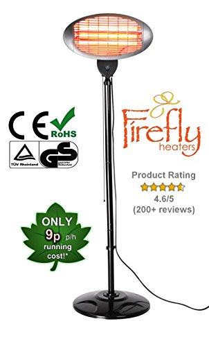 4138jA0fSjL - BEST BUY #1 Firefly 2KW Free Standing Patio Heater - 3 Power Settings