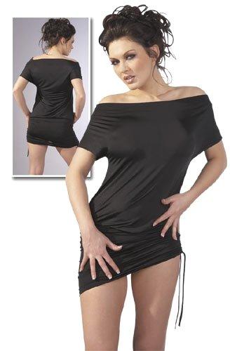 Raff-Minikleid schwarz Größe -L-