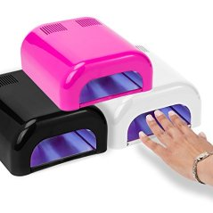 Salon Sundry UV Nail Dryer 36 Watt Professional Salon Gel Nail Polish Curing Lamp with Built In Timer - Pink