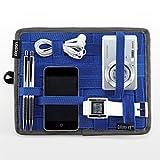 サンワダイレクト (NHKで放送 R25で掲載) ガジェット&デジモノアクセサリ固定ツール かばんの中身整理グッズ B5サイズ ブルー CPG7BL