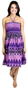 La-Leela-Cotton-Zig-Zag-Printed-Smocked-Halter-Backless-Short-Tube-Dress-VioletLarge