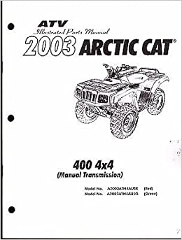 2003 Arctic Cat ATV 400 4X4 MANUAL TRANSMISSION Parts Manual P/N 2256-724 (909): Arctic Cat