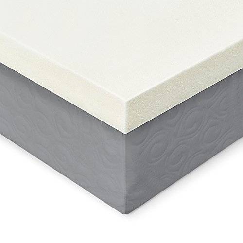 Memory Foam Mattress Topper - 2 Inches of 100% Real Visco Elastic Foam | 3 lb density for High Support and High Response | Made in USA | CertiPUR-US Certified, Twin by ExceptionalSheets