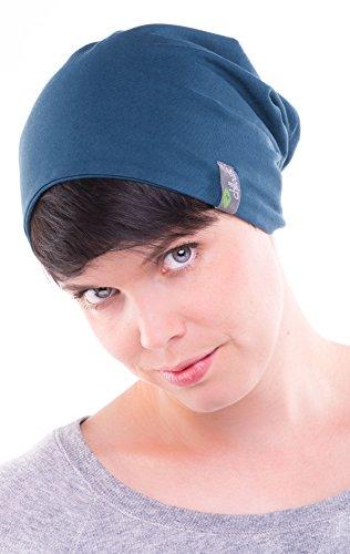 Trendige leichte und dünne Jersey Beanie für Damen und Herren – unisex