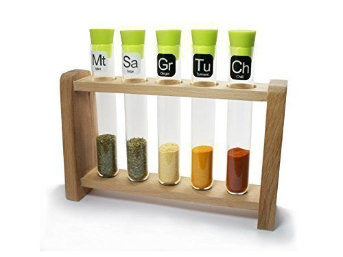 Test Tube Spice Rack (Lime/Natural)