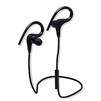 TecBillion Bluetooth4.1ワイヤレスイヤホン 耳掛け式 スポーツ仕様防水 / 防汗 高音質 内蔵マイク ノイズキャンセリング搭載 通話可能イヤホン iPhone、Android各種対応 スポーツイヤホン (ブラック)