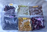 Herbal Collection: Spring Flowers ~ 6 Dried Herbs ~ Collection ~ Ravenz Roost Herbs with Special Info on Labels~ 1/2 oz ea ~ Shipped in a box