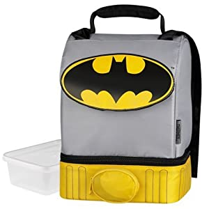 Batman Cape Lunch Box Bag Dual Compartment by Thermos Company