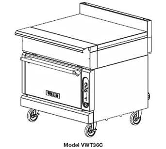 Amazon.com: Vulcan-Hart VWT36C LP 36-in Heavy Duty Range