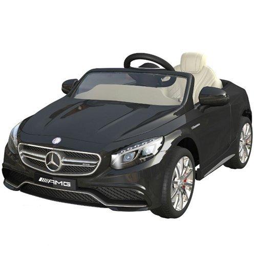 #Mercedes-Benz S63 AMG Cabriolet Ride-On 12V Elektro Kinderauto Kinderfahrzeug Kinder Elektroauto (Schwarz)#