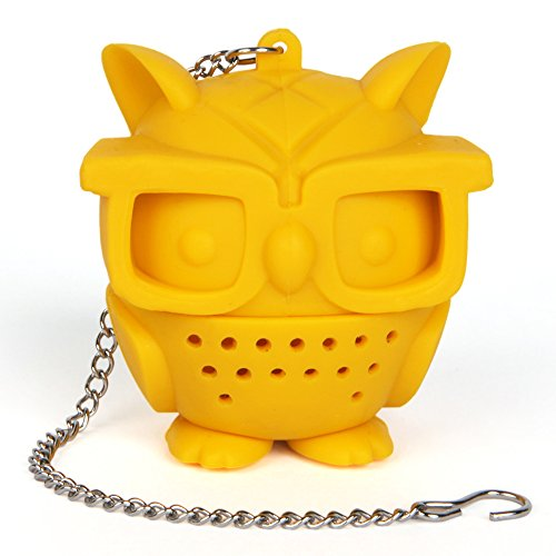 GAMAGO Teacher's Pet Owl Tea Infuser, Yellow