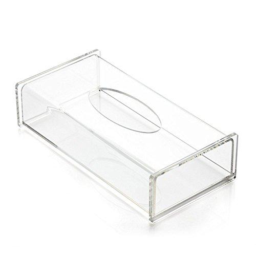 Aoert Acrylic Tissue Dispenser Box Rectangle Clear Tissue