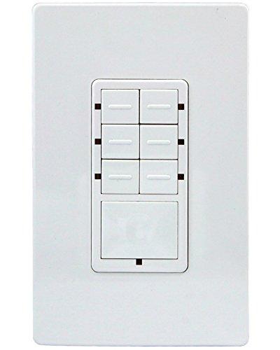 Enerwave ZWN-SC7 Z-Wave Scene Controller 7-Button Switch