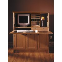 Wood laptop stand plan: Home Office Hideaway Computer Desk ...