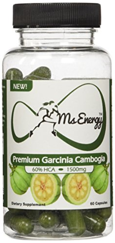 Ms Energy Premium Garcinia Cambogia 60 Capsules - 1500 Mg 60% HCA Extract Best Natural Weight Loss Supplements Products That Really Works Fast for Women and Men - Belly Fat Burners Diet Pills Lose Weight