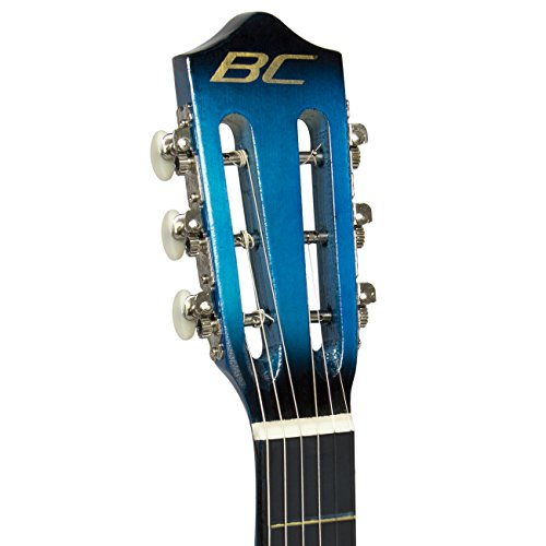 38-Blue-Student-Acoustic-Guitar-Starter-Package-Guitar-Gig-Bag-Strap-Pitch-Pipe