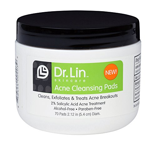 Dr. Lin Skincare Acne Cleansing Pads, 70 Count