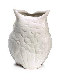 White Ceramic Owl Vase Decorative Vase For Owl Lovers Home