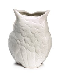 White Ceramic Owl Vase Decorative Vase For Owl Lovers Home ...