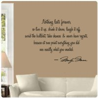 Marilyn Monroe Quotes Wall Decals   Quotes