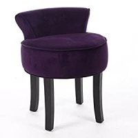 Vanity stool - VELVET look - Colour PURPLE: Amazon.co.uk ...