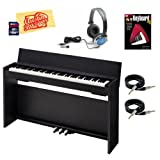Casio Privia PX-830 Digital Piano Bundle with 8GB SD Card, Essential Cables Pack, Headphones, Instructional Book, and Polishing Cloth - Black