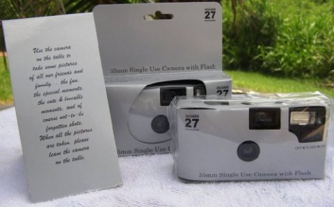 10-Pack-Disposable-Wedding-Cameras-Plain-Shiny-Silver-35mm-27-Exp-New-in-Gift-Boxes
