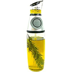 17 oz (500 ml) Glass Olive Oil Infuser with No Drip Easy Press and Measure Dispenser by AttainIt Home Goods. Treat Yourself to Fresh Tasting Herb Infused Olive Oil