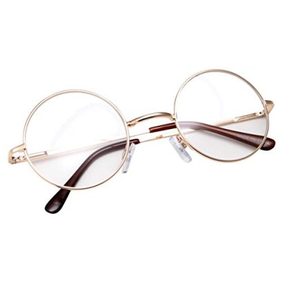 grinderPUNCH-Non-Prescription-Round-Circle-Frame-Clear-Lens-Glasses