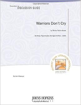 Amazon.com: Warriors Don't Cry Teacher's Guide