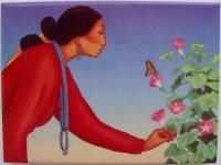 R.C. Gorman Morning Glory Ceramic Art Tile Southwest Gift ...
