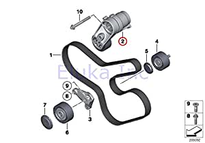 Amazon.com: BMW Genuine Drive Belt Tensioner W/ Pulley