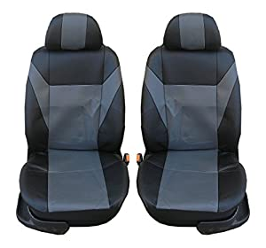 1+1 Front Leather Greyblack Seat Covers For Vauxhall