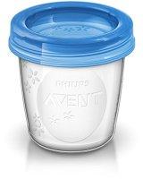 Philips-AVENT-SCF61810-Aufbewahrungssystem-fr-Muttermilch-10-x-180-ml-Becher-inklusive-Deckel-Adapter