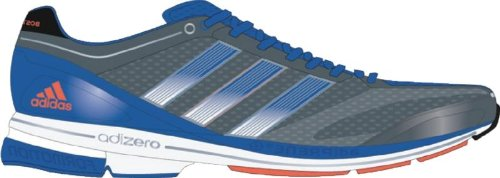 Buy Adidas - Adizero Boston 3 M Mens Shoes In Sharp Grey/Prime Blue/Warning, Size: 9 D(M) US Mens, Color: Sharp Grey/Prime