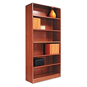 Amazoncom Alera Radius Corner Wood Veneer Bookcase